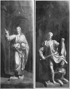 Christus als Salvator Mundi (links), de H. Martinus van Tours (rechts)
