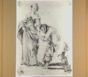 Vrouw met handkussende man