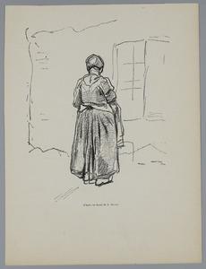 Vrouw die voor het raam