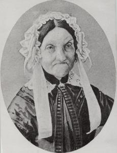 Portret van Christina Regina Backer ( -1858)