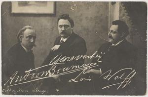 Groepsportret met Antoon Bouman (1854-1906)