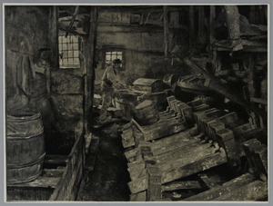 Interieur van een papierfabriek