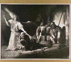 De bevrijding van Petrus door de engel (Handelingen 12:7-8)