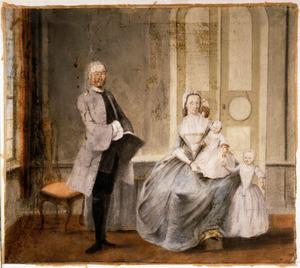 Portret van de familie van Jolle Jolles (1722-1787) en Maria Elisabeth Meulenbroek (1728-1784)