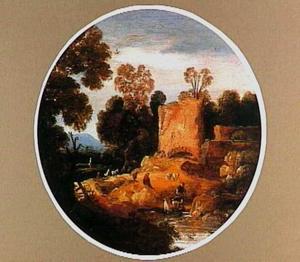 Zomer (landschap met enkele herders bij een ruïne)