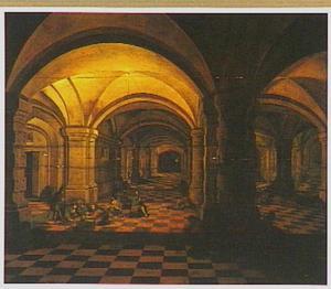 Gezicht in een gevangenis met St. Petrus
