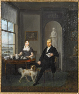 Dubbelportret van Hendrik Kuipers (1768-1845) en Elisabeth Catharina Heye (....-....)