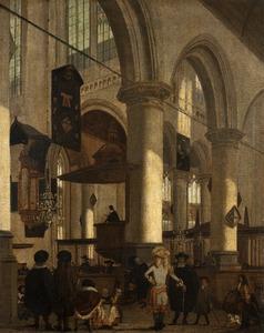 Gezicht in de Oude Kerk in Delft