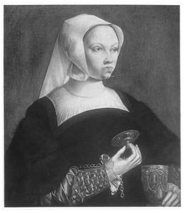 Portret van een vrouw als de heilige Maria Magdalena