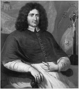Portret van Johannes Baptista van Neercassel met bisschopsattributen (1623-1686)