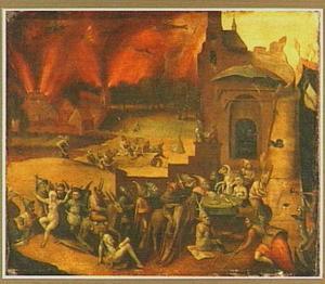 gebaseerd op de verzoeking van de H. Antonius; de heilige is evenwel niet op de voorstelling te zien