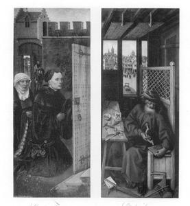 Stichterspaar (links), Jozef in zijn timmerwerkplaats (rechts)