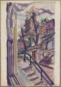 M.J. Kosterstraat 11 uitzicht op de achterzijde van de huizen Sarphatistraat Amsterdam