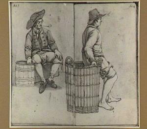 Twee zittende mannen