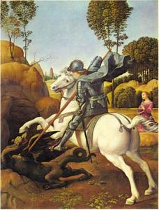 De H. Joris in gevecht met de draak