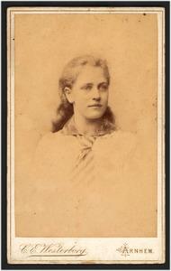 Portret van de schilder Lucie van Dam van Isselt (1871-1949)