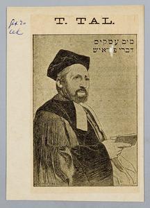 Portret van opperrabijn Tobias Tal (1847-1898)