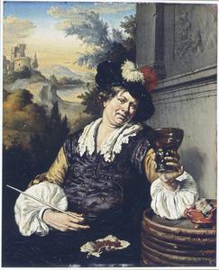 Drinker in een landschap