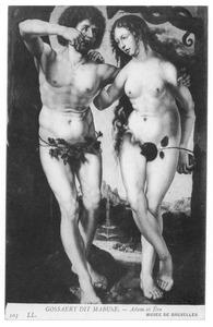 De zondeval: adam eet de appel die Eva hem gaf (Genesis 3:6)