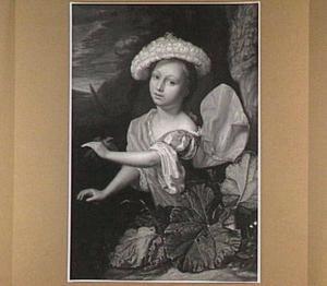 Meisje met een vogel in haar linkerhand
