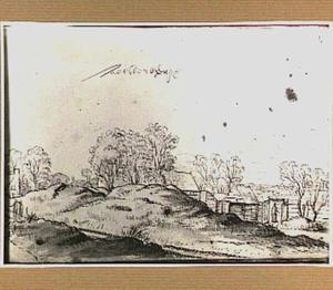 Duinlandschap met boerderijen in Aelbertsberg