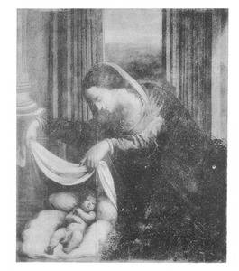 Maria met kind (fragment uit een 'Aanbidding van de herders')