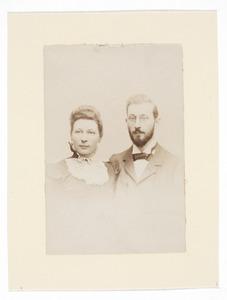 Portret van Gerardina Maria Donkersloot (1871-1913) en Reinier Gerrit Johannes Schouten (1873-1914)