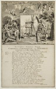 Allegorie op de Inventie van de zaagmolen, met Minerva, Aeolus en putti