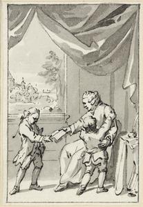 Illustratie voor 'Aan twee lieve kleine jongens' in de Kleine gedichten voor kinderen door H. van Alphen