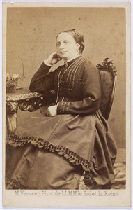 Portret van Alida Lucretia Kips (1817-1883) of Alida Wilhelmina Kips (1822-1891)