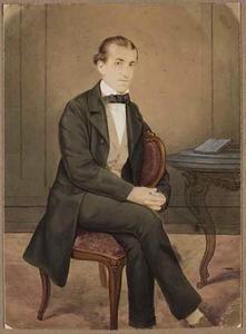 Portret van Johannes Bake (1834-1866)