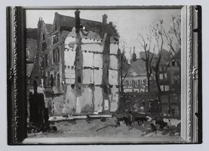 Afbraak Oudezijds Achterburgwal 180-184 voor nieuwbouw stadhuis