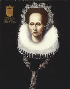Portret van Anna Lewe (....-1630)