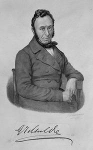 Portret van Gerardus Johannes Mulder (1802-1880)