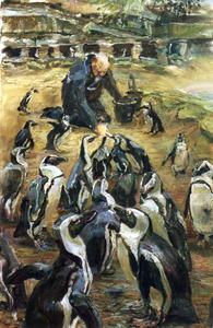 Pinguinverzorger in Artis