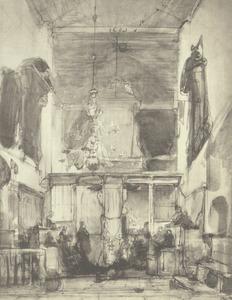 Interieur van de Grote Kerk te Utrecht