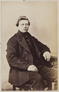 Portret van een man, waarschijnlijk Lieuwe de Vries (1846-1936)