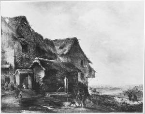 Landschap met boerenhuis