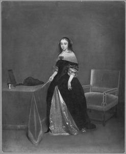 Portret van Freda Quadacker (overleden 1699) echtgenote van Gosewijn (Theophilus) Hogers