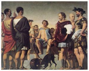 Lycurgus toont in het voorbeeld van een jachthond de gevolgen van de opvoeding