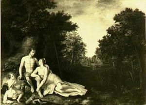Venus en Adonis als minnaars (Ovidius, Metamorfoses 10:529-559)