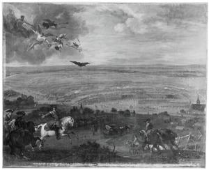 De slag bij Petrovaradin , op 5 augustus 1716