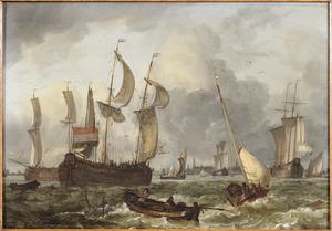 Schepen op de rede van Hoorn