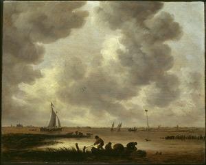 Gezicht op de Haarlemmermeer (aan de horizon de St. Bavo)