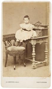 Portret van een kind, genaamd Johanna Henriette Everts (1853-1942)