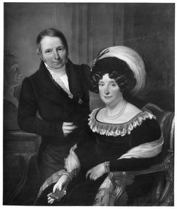 Dubbelportret van Lodewijk Constantin Rabo Copes van Cattenburch (1771-1842) en Regnera Geertruyd van Mierop (1768-1844)