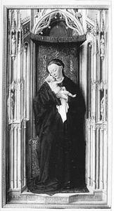 Maria met kind in een gotische nis