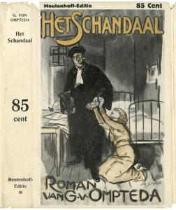 Het schandaal - omslag voor de gelijknamige roman van G. v. Ompteda