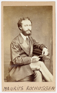 Portret van Maurits Rochussen (1841-1875)