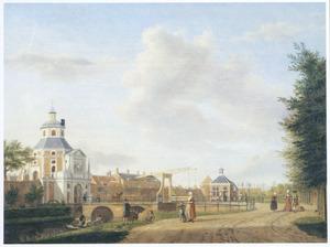 Gezicht op de Wittevrouwenpoort te Utrecht